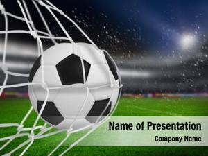 Goal soccer ball net against