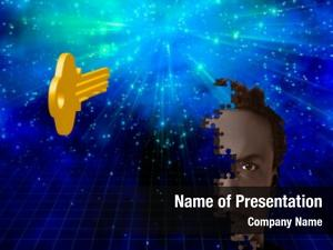 Piece key puzzle man