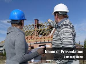 Building female male engineers wearing