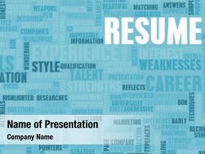 Well job resume written concept