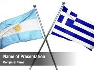 Combined argentina flag greek flag