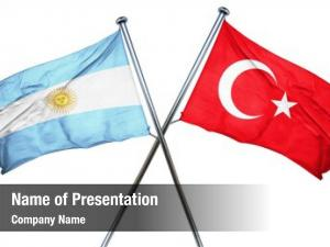 Combined argentina flag turkey flag