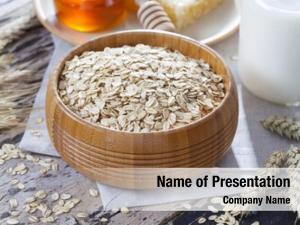 Ingredient oats bowl full