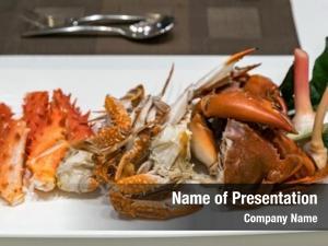 Crab variety steam white dish