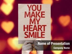Heart you make smile card