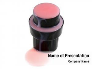 Softening cap pink liquid front