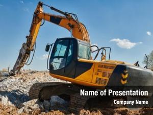 Excavator secondary demolition hydraulic hydrohammer