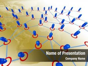 People connection business around world