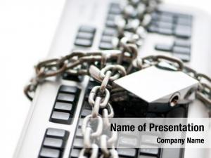 Security concept internet padlock keyboard
