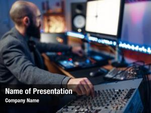 Audio sound operator recording studio