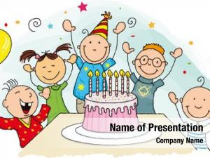 Group happy birthday young child