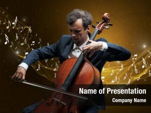 Composer lonely musical cello sparkling