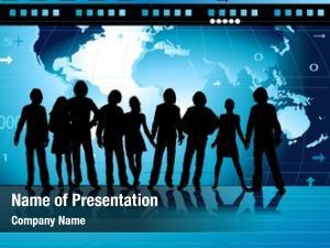 People, communication design world map,