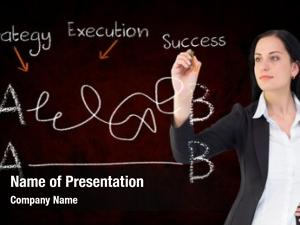 Businesswoman digital composite writing equation