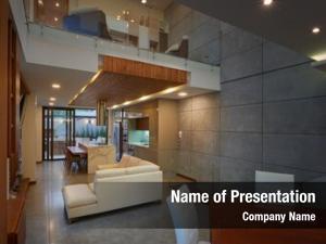 Modern interior design: house interior