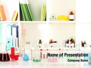Glassware different laboratory color liquid