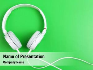 Headphone on green