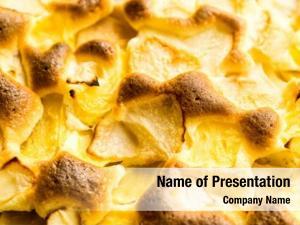 Caramelized pie organic apple