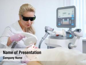 Treatment woman getting aesthetic dermatology