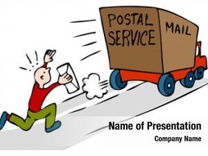 Mail man chasing truck urgent