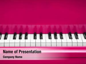 Pink piano keys piano close