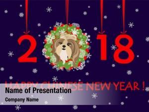 Year happy new 2018 greeting