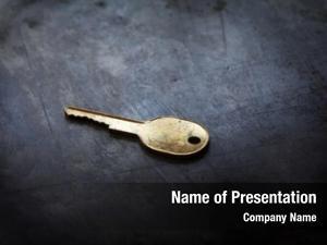 Dark golden key steel iron