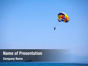 Sea parasailing over