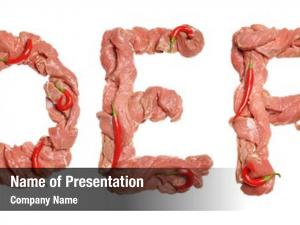 Alphabet collection meat