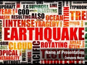 Disaster earthquake natural art background