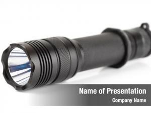 Led military tactical flashlight white