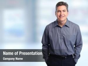 Businessman handsome smiling over blue