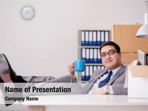 Office businessman relaxing after busy