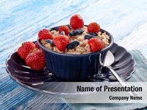 Fresh oatmeal porridge berries dark