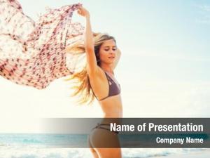 Lifestyle, beach fashion beautiful girl