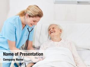 Checks nurse nurse blood pressure