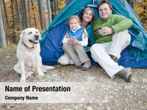 Family camping tent dog camping