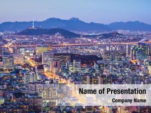 Korea seoul, south city skyline