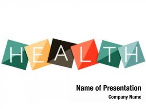 Concept word health color geometric