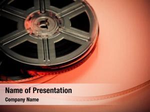 Film red black reel concept