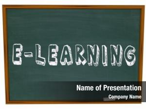 Written e learning words drawn chalkboard