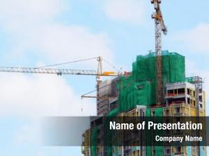 Multistory building building crane