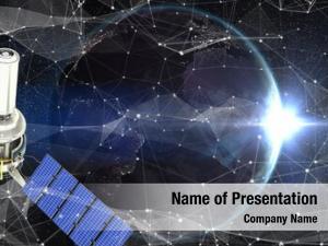 Modern vector of3d solar satellite