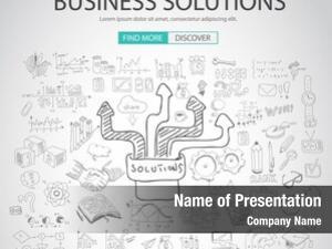 Concept business solutions doodle design
