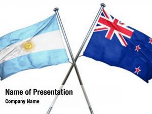 Combined argentina flag new zealand
