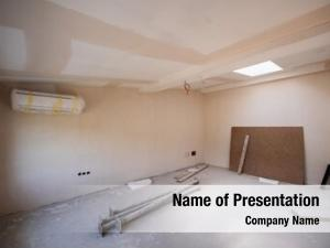 Site interior construction drywall completely