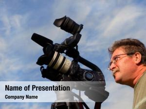 Video cameraman shooting