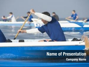 Teams outrigger canoeing compete