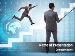 Forecasting businessman financial business concept