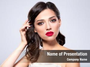 Fashion beautiful young woman red